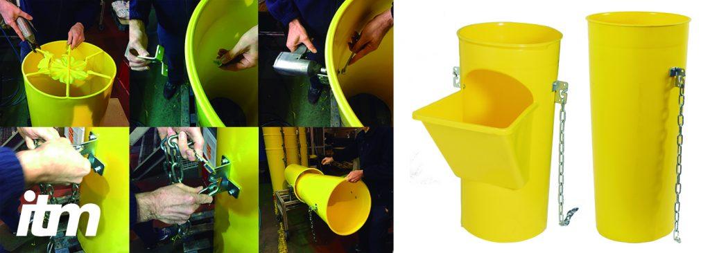 sistema de bajantes de tubos de escombros de la firma española ITM