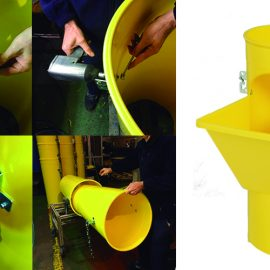 sistema de bajantes de tubos de escombros
