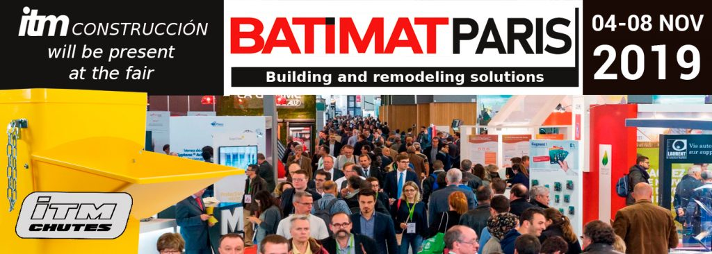 ITM Construcción presents its products at the Batimat Paris fair