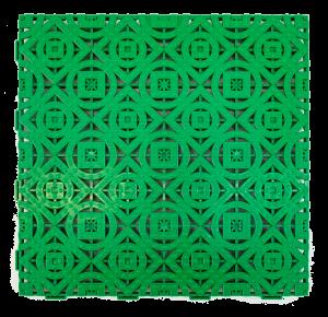 Loseta de plástico verde