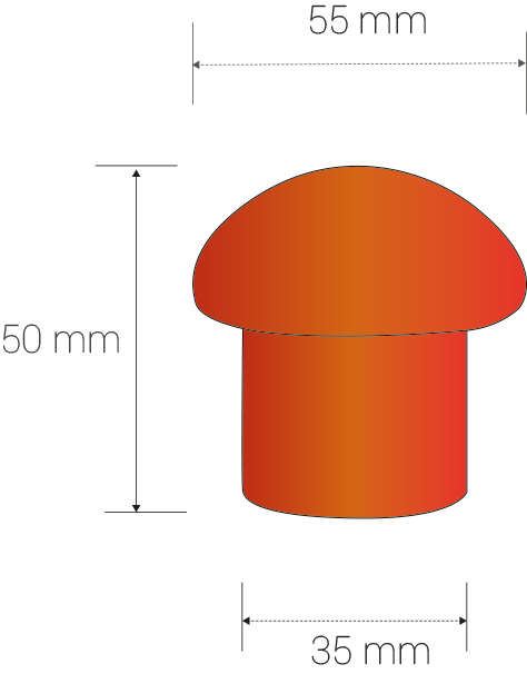 Dimensiones de la seta de protección de ITM
