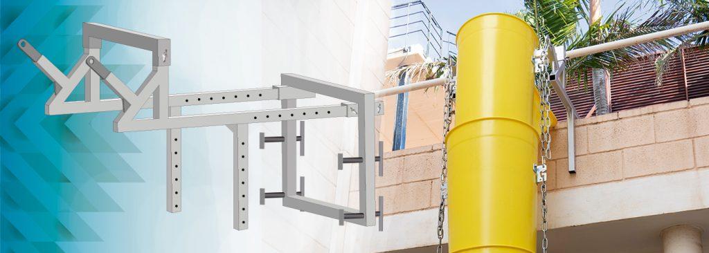 Soporte de fijación para tubos de escombro